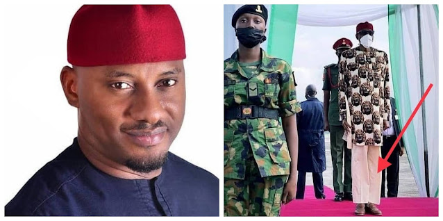 Buhari's trousers should be the least of our problems– Actor, Yul Edochie slams Nigerians mocking his Trousers (Video)