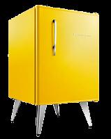 Frigobar Brastemp amarelo