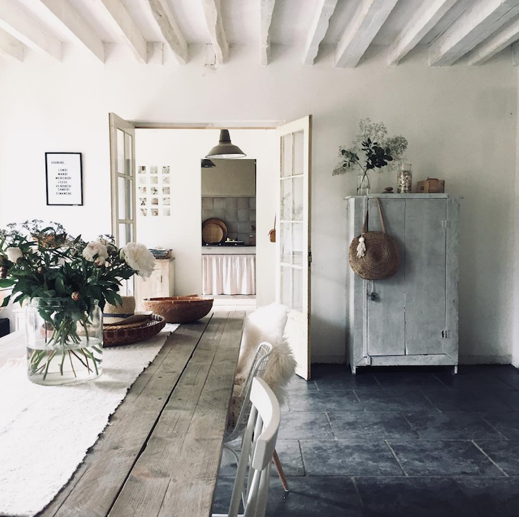 Antiques and Flea Market Finds in a Delightful Family Home in Burgundy