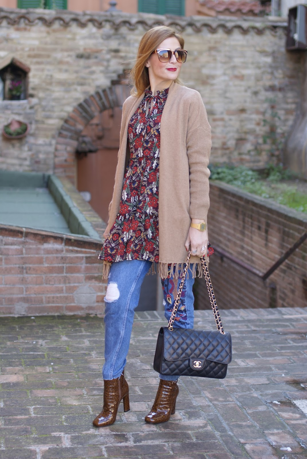 Le Silla ankle boots, cropped jeans on Fashion and Cookies fashion blog