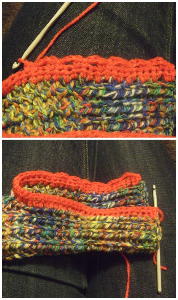 Knit & Crochet Fingerless Gloves crochet edging