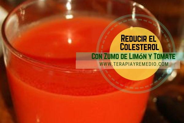 Para reducir el colesterol con zumo de limón y tomate, remedio casero fácil de hacer