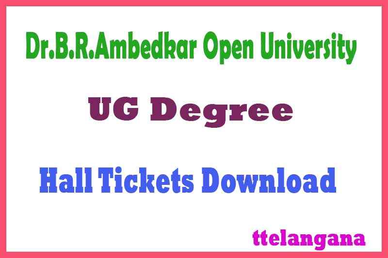 BRAOU UG Degree Hall Tickets Download