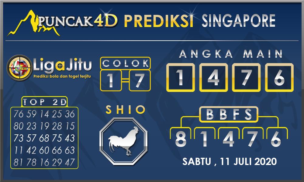 PREDIKSI TOGEL SINGAPORE PUNCAK4D 11 JULI 2020