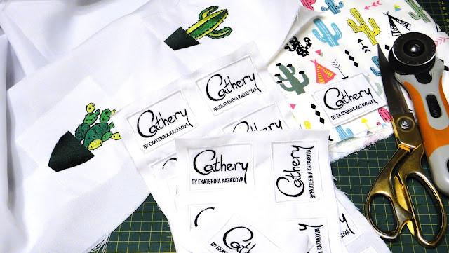 Этикетки для мастеров, вышитые бирки ручной работы - машинная вышивка на заказ. Ярлычки hand made