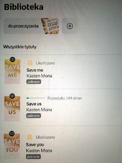 """Save you"" Mona Kasten, czyli 2/3 za mną, fot. paratexterka ©"