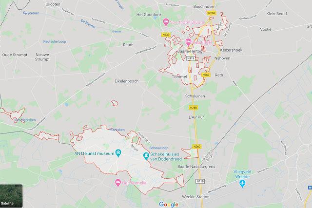 Baarle Hertog - Baarle Nassau Map
