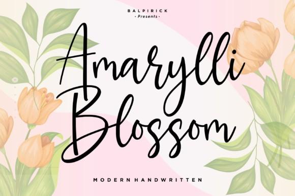 Amarylli Blossom Font