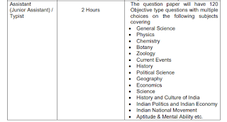 Exam Syllabus for TNPCB Typist, Junior Asst Posts: