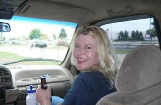 Picture of Tamara Gilmer sitting in a car
