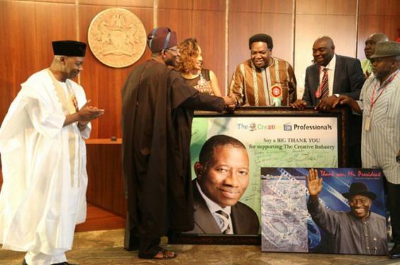 1 Photos: Nollywood Stars Visit President Jonathan At Aso Rock