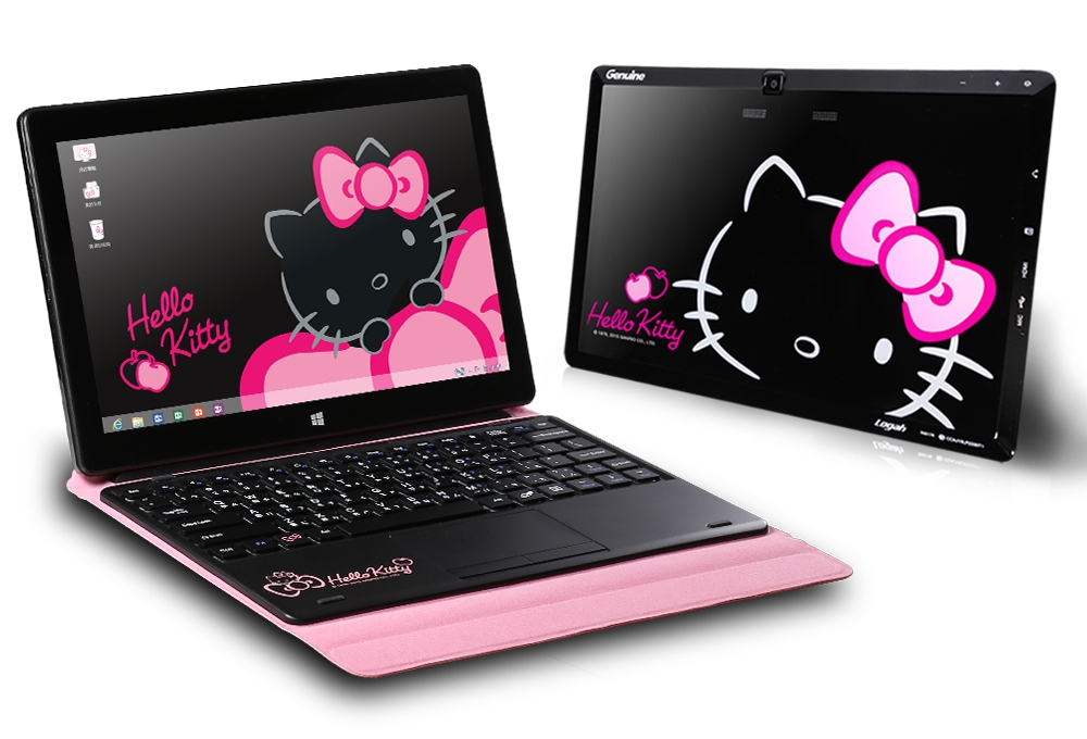 25bbaf8f5 The Grace 10 Light Hello Kitty Windows Tablet delivers productivity  on-the-go with an uber cute exterior, and it also sports a micro USB port  and a microSD ...
