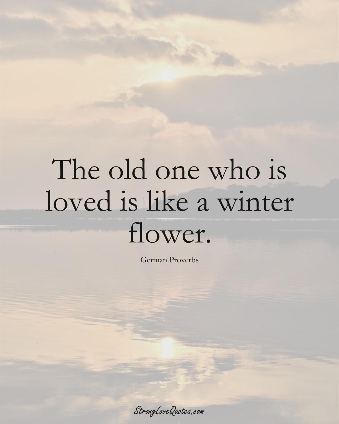 The old one who is loved is like a winter flower. (German Sayings);  #EuropeanSayings