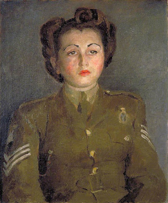 Portrait of an Auxiliary Territorial Service Sergeant (1942), Mary Potter