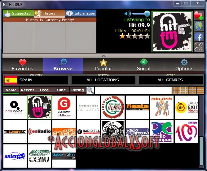 Reproductor de radios de internet
