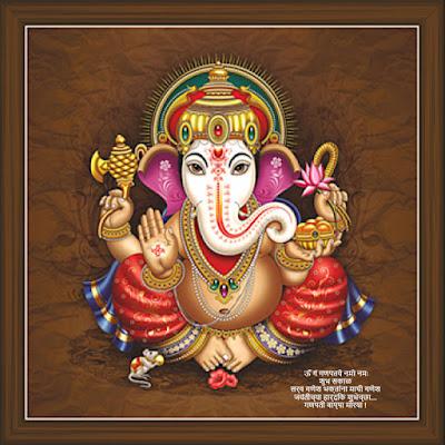 Ganesh Ji Good Morning Images in Marathi