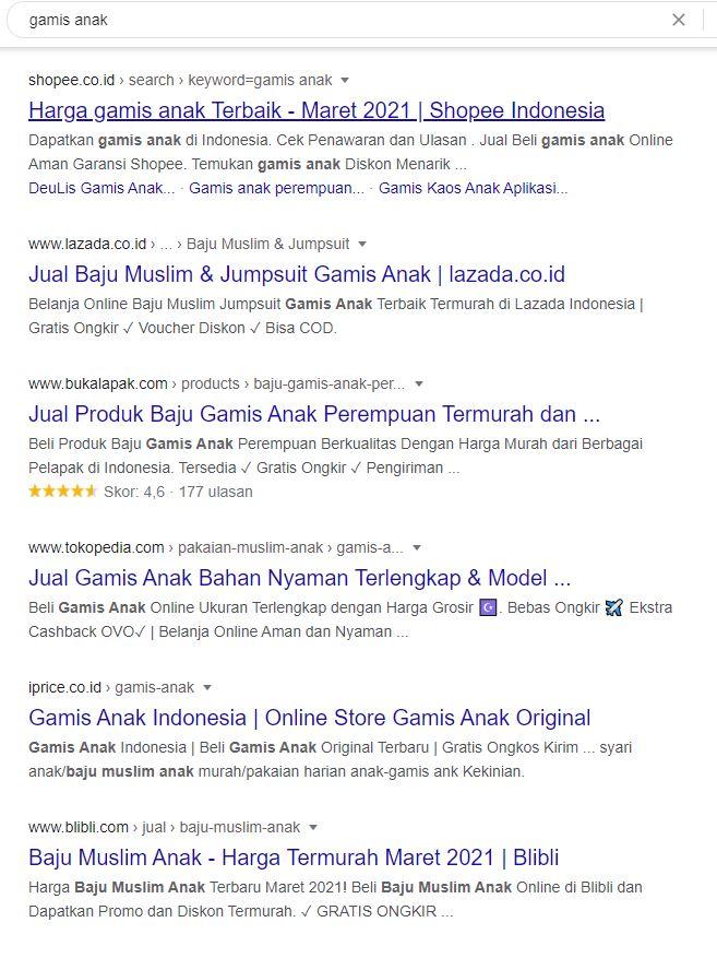 search engine result untuk keyword Gamis Anak