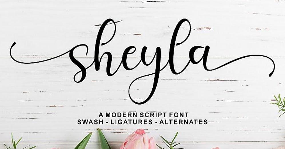 Download Sheyla Modern Script Font Dafont