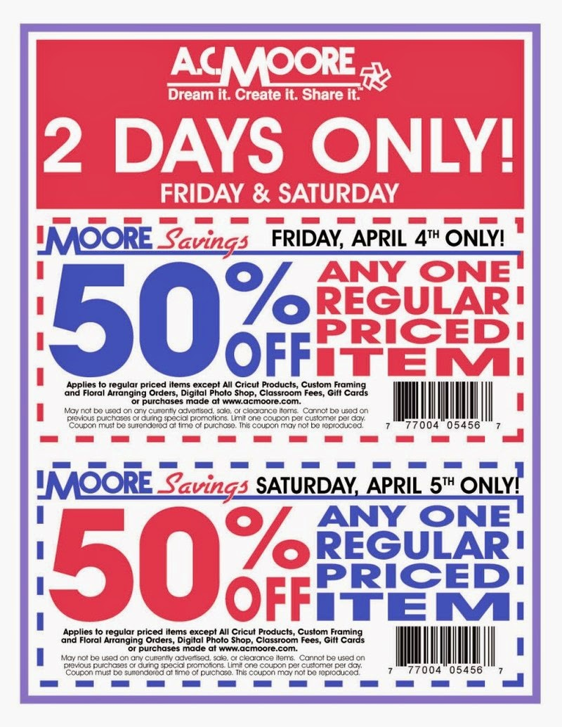 photo relating to Ac Moore Printable Coupon named Ac coupon codes - Push close friend discount coupons mississippi