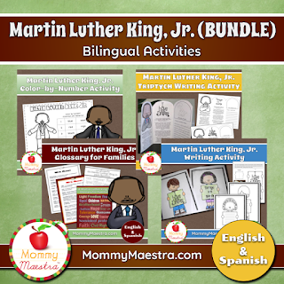 Bilingual Martin Luther King, Jr. Activities BUNDLE