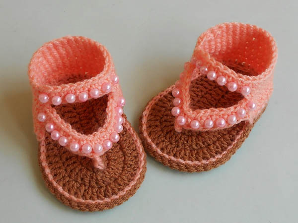 b632c38a199d These beautiful baby crochet sandals are such fun to make with the same  video. The pattern made in one size for 0-3 months. These pairs baby beaded  crochet ...