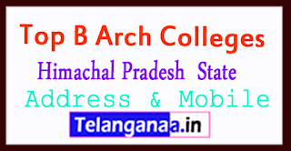 Top B Arch Colleges in Himachal Pradesh