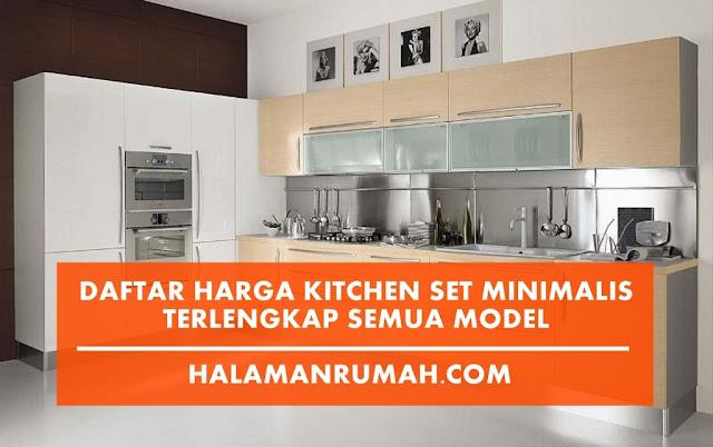Harga Kitchen Set Minimalis 2018