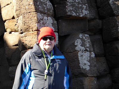 Our Ireland Adventure Day 13 - The Giant Causeway hike (Paul wearing his new Bushmills Jacket)