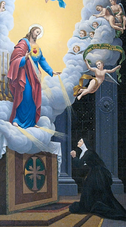 O Sagrado Coração de Jesus aparece a Santa Margarida Maria Alacocque, em Paray-le-Monial, França