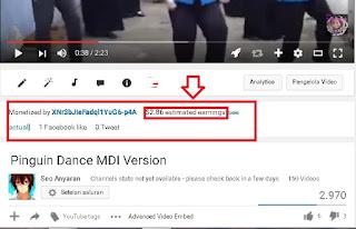 Cara Melihat Penghasilan Adsense Youtube orang lain