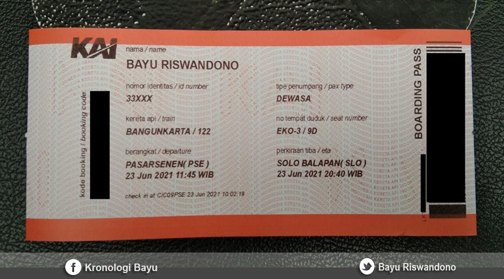 Pengalaman Naik Kereta Api Bangunkarta Pasar Senen Jakarta ke Stasiun Balapan Solo
