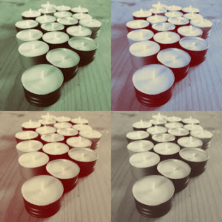 Wine bottle cap candles upcycled