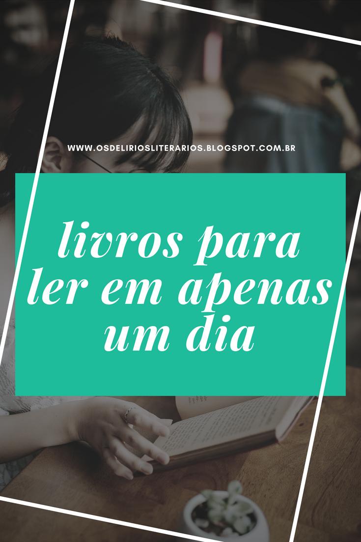 dicas de livros para ler em um dia