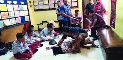Kurang ajar Murid SD pesta miras di dalam kelas, ditegur malah guru ditantang kelahi