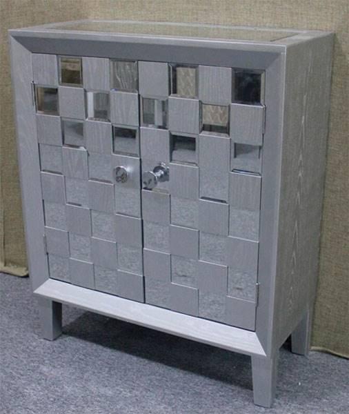 La web de la decoracion y el mueble en la red mueble auxiliar plata y espejos serie bantiana - Muebles pintados en plata ...
