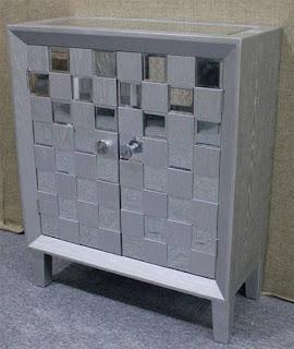 Consola 2 Puertas Plata Espejos Bantiana