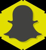 snapchat hexagon icon
