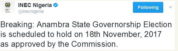 INEC, Anambra State, Governorship Election, News,