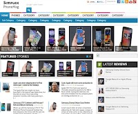 Phonearena and Gsmarena Like Blogger Template Free Download