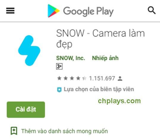 Tải SNOW - Ứng dụng chụp hình, camera làm đẹp cho Android, IOS a