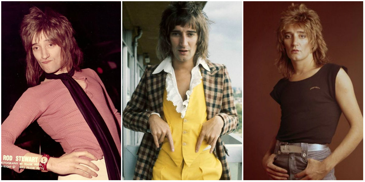 Da Ya Think I'm Sexy? 30 Portraits of Rod Stewart With His Famous Mullet Hairstyle in the 1970s and Early 1980s