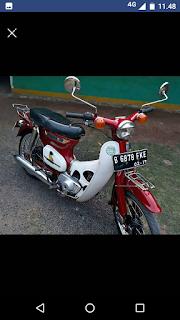 Dijual motor antik honda Wulung c70 thn 78