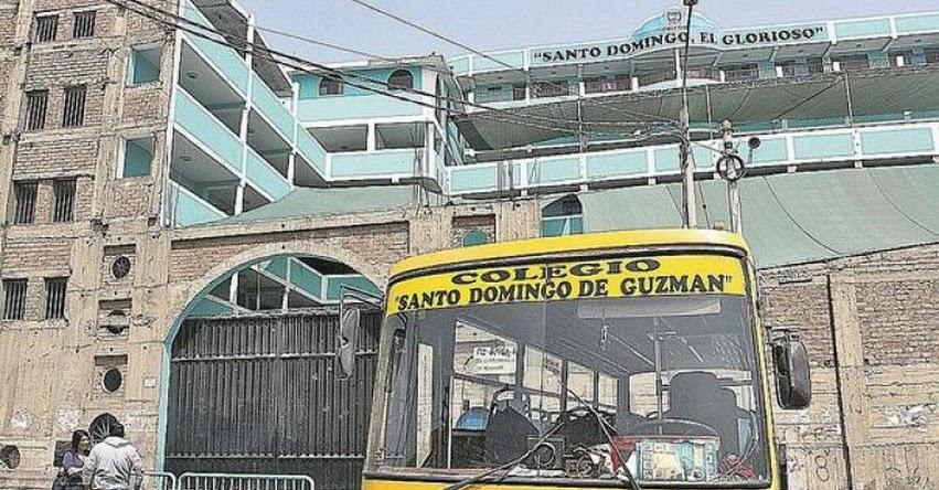 «Marcas» asaltan a directora del Colegio Santo Domingo «El Glorioso» de Santa María en San Juan de Lurigancho - UGEL 05