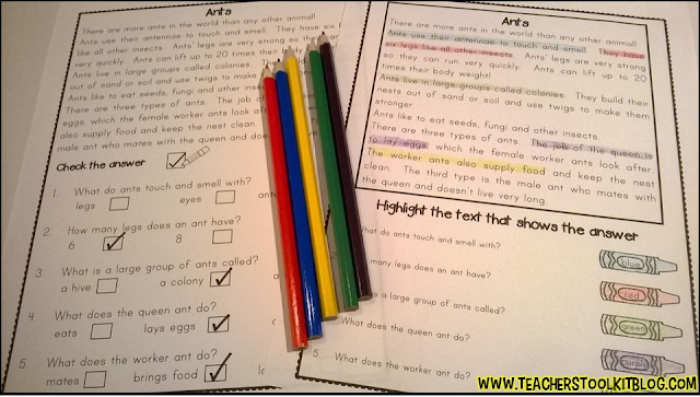 Click here for your non-fiction comprehension pack on tpt