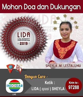Ambon, Malukupost.com - Jalan panjang sudah ditempuh Sheyla Muzdalifah Lestaluhu pada ajang Liga Dangdut Indonesia (Lida) 2019 di TV Indosiar Jakarta.  Dari 80 rival, Nona Ambon Manise ini sudah sampai di babak empat besar.