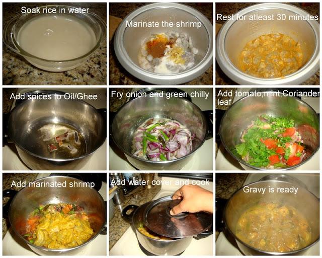 images of Shrimp Biryani Recipe / Prawn Biriyani Recipe / Eral Biriyani Recipe / Royyalu Biryani Recipe
