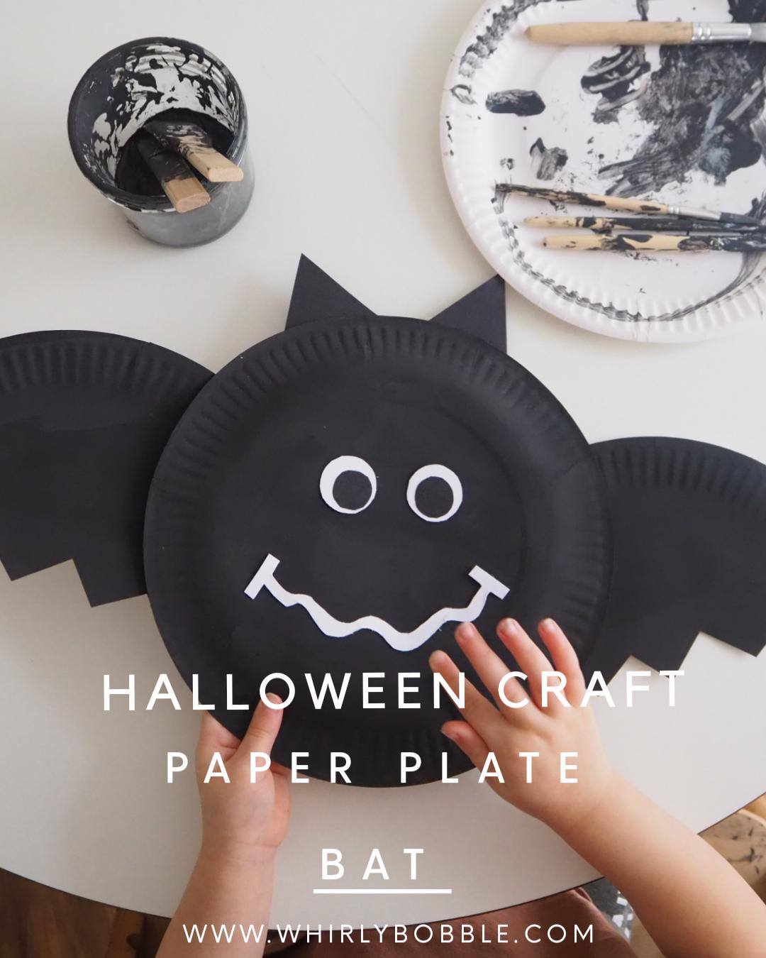 DIY Paper Plate Bat