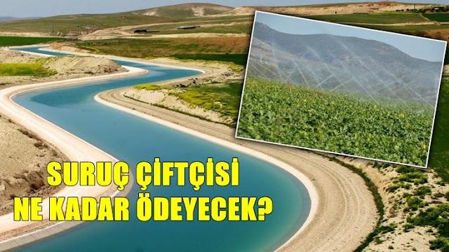 Suruç tarımsal sulama ücretleri belli oldu