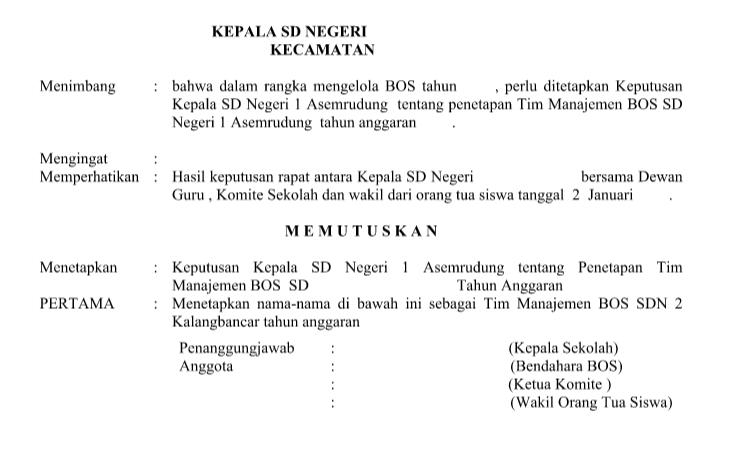 SK Penyusunan RKAS