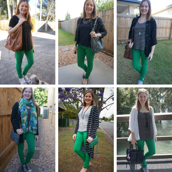 6 different black and green skinny jeans outfit ideas|  away from blue
